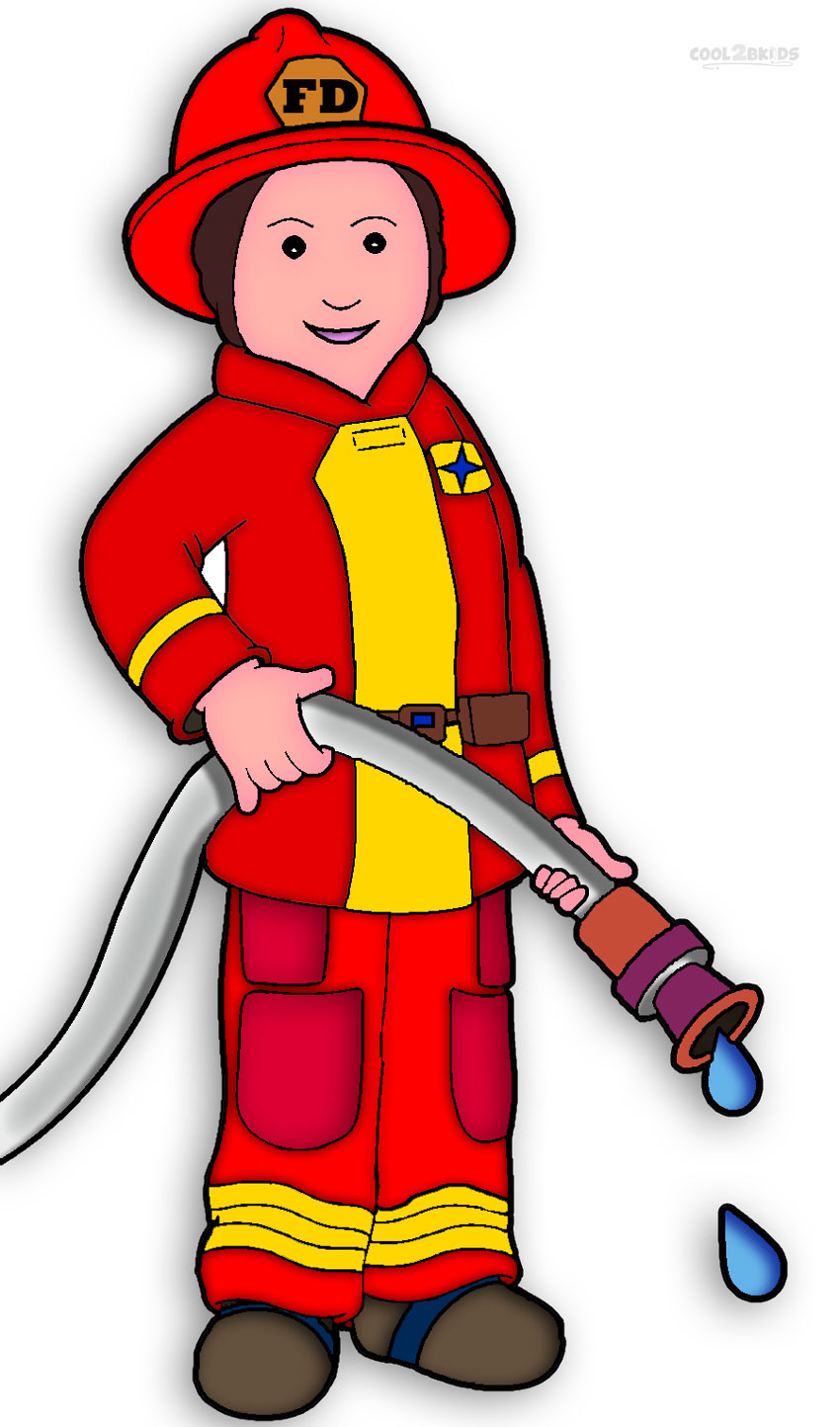 Firefighter clip art vector free clipart images