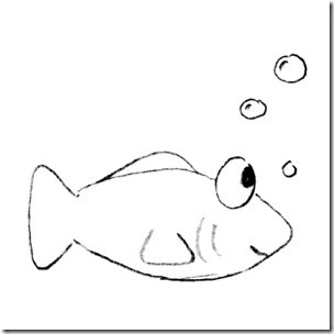 Fish  black and white cartoon fish clipart black and white