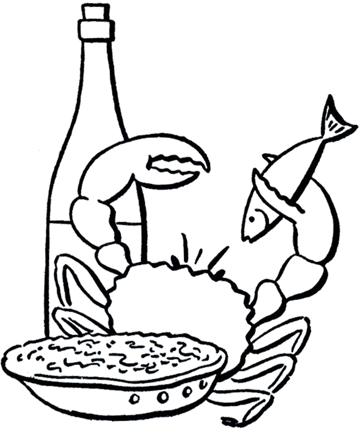 Fish dinner clipart free images 2