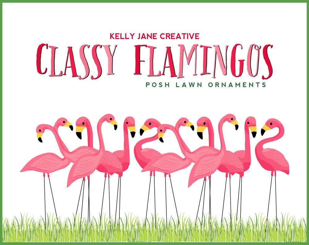 Flamingo border clipart 2