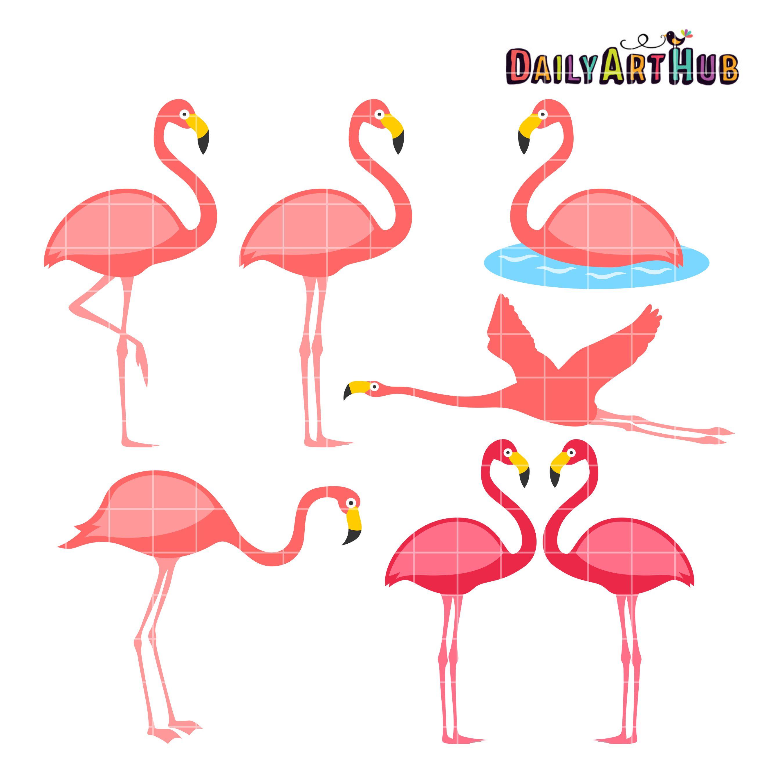 Flamingo clip hostted clip art