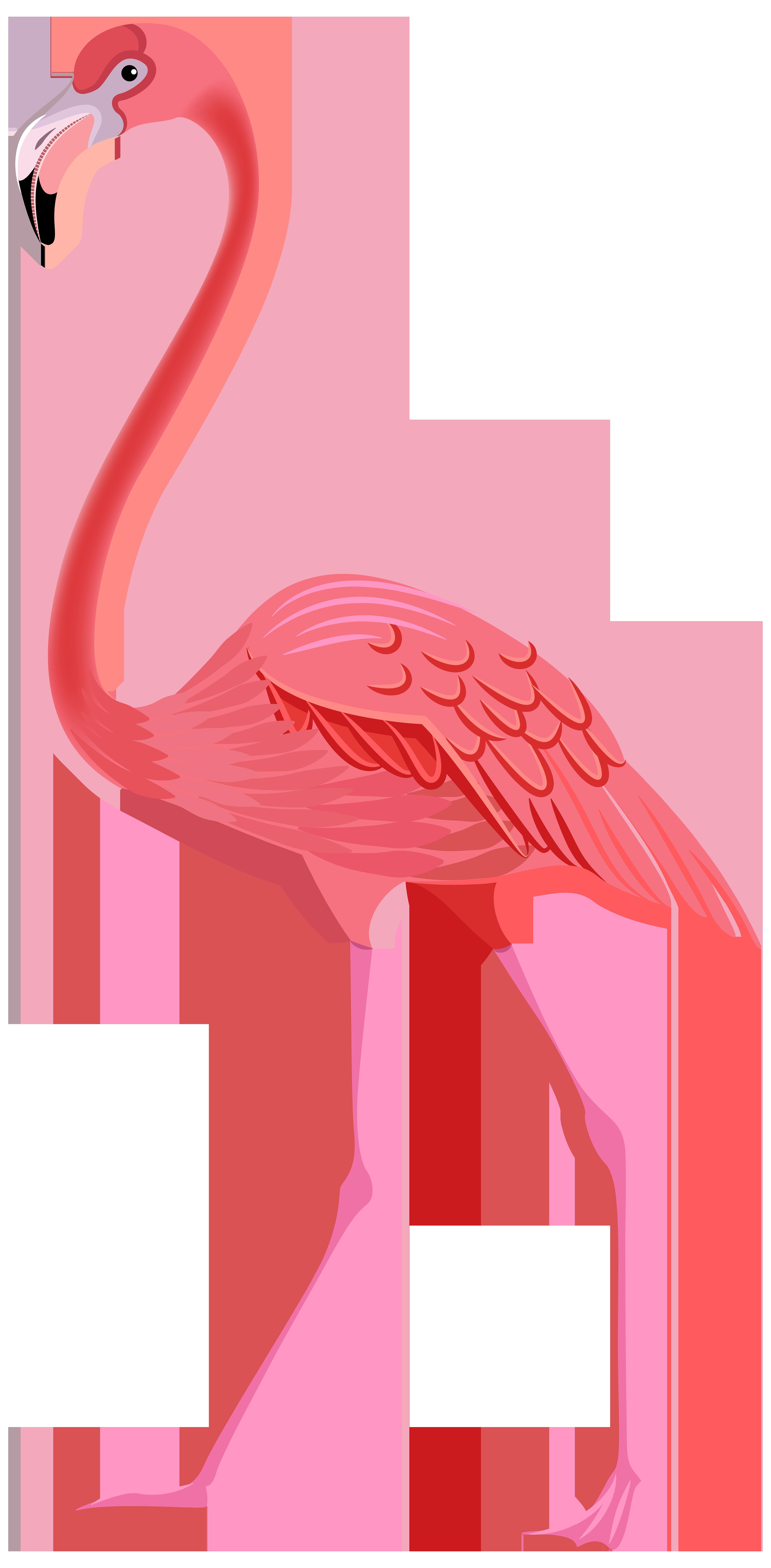 lawn flamingo outline - photo #25