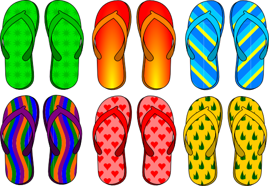 Flip flop free to use clipart