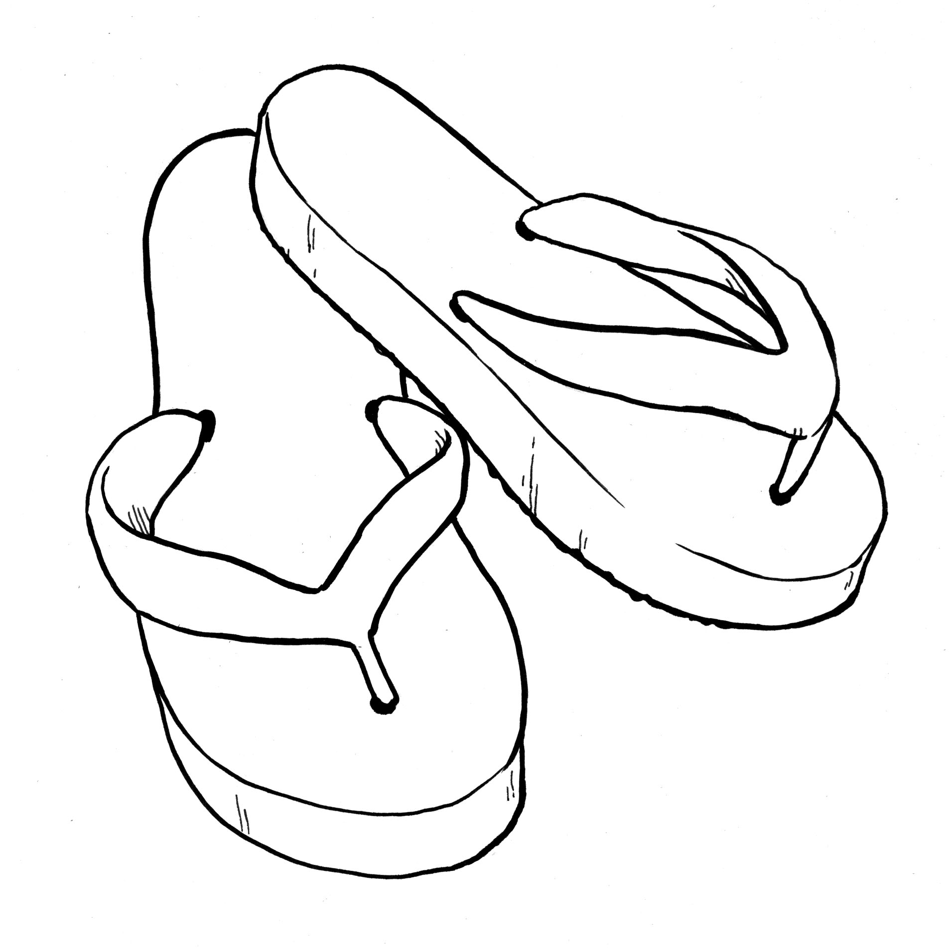 Flip flops clipart black and white clipartfox