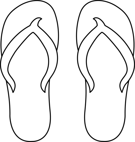 Flip flops clipart black and white free 2