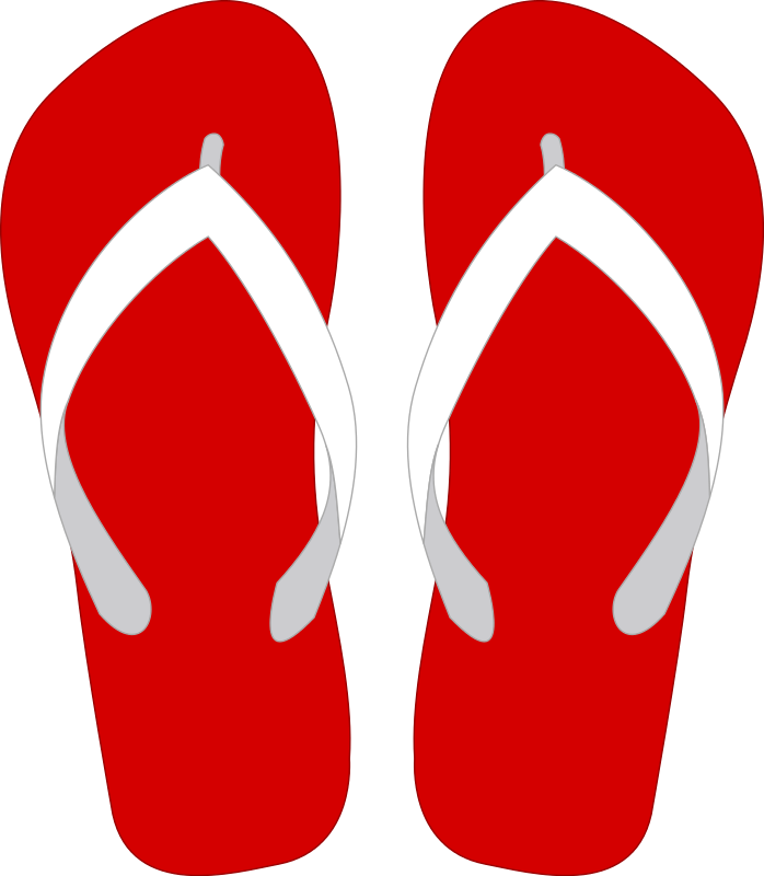 Flip flops clipart black and white free 4