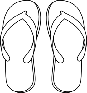Flip flops clipart black and white free 5