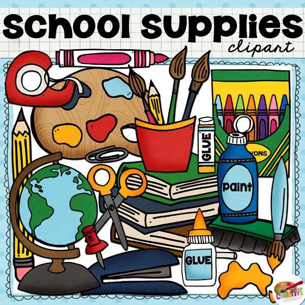 Free clip art of school supplies download