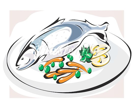 Free fish dinner clipart