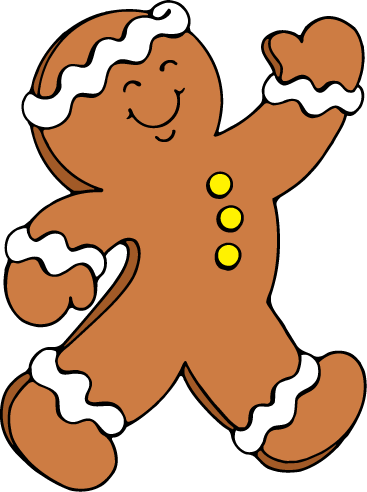 Free gingerbread man clipart pictures 5