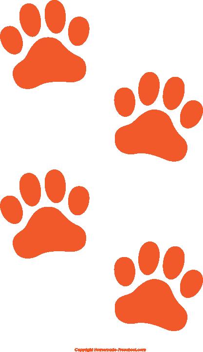 Free paw prints clipart 4 2