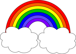 Free rainbow clip art pictures 4