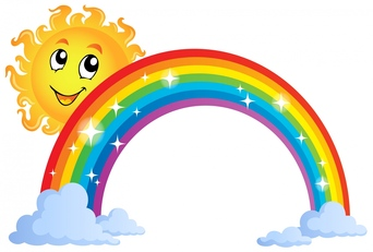 Free rainbow clip art pictures 5