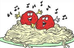 Free spaghetti dinner clipart