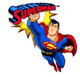 Free superman cartoon clipart