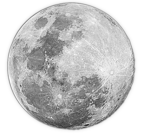 Full moon transparent clipart 2