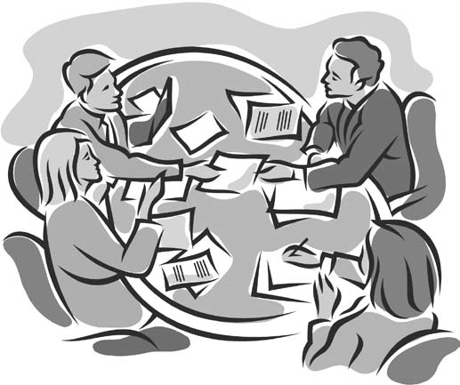 Funny staff meeting clipart