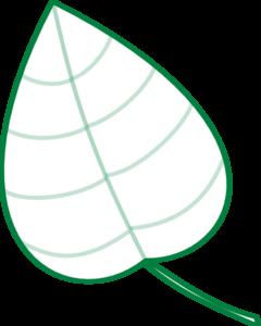 Geen leaf outline clipart