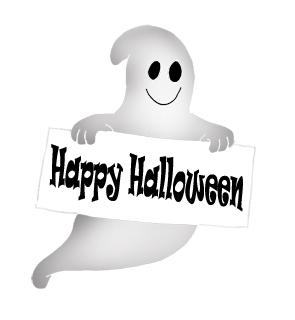 Ghost happy halloween clipart 3