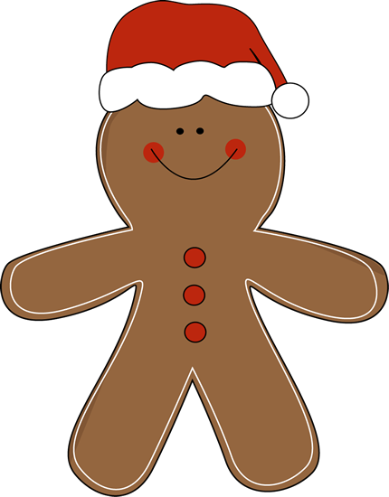 Gingerbread man border clipart 2