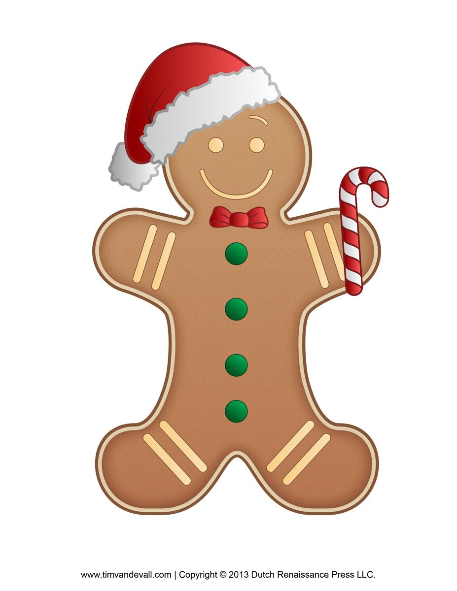 Gingerbread man border clipart 3