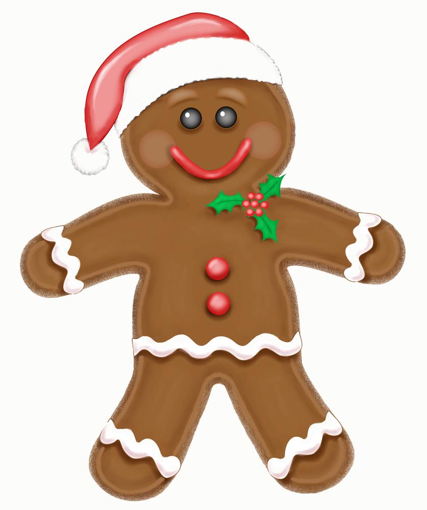 Gingerbread man border clipart 4