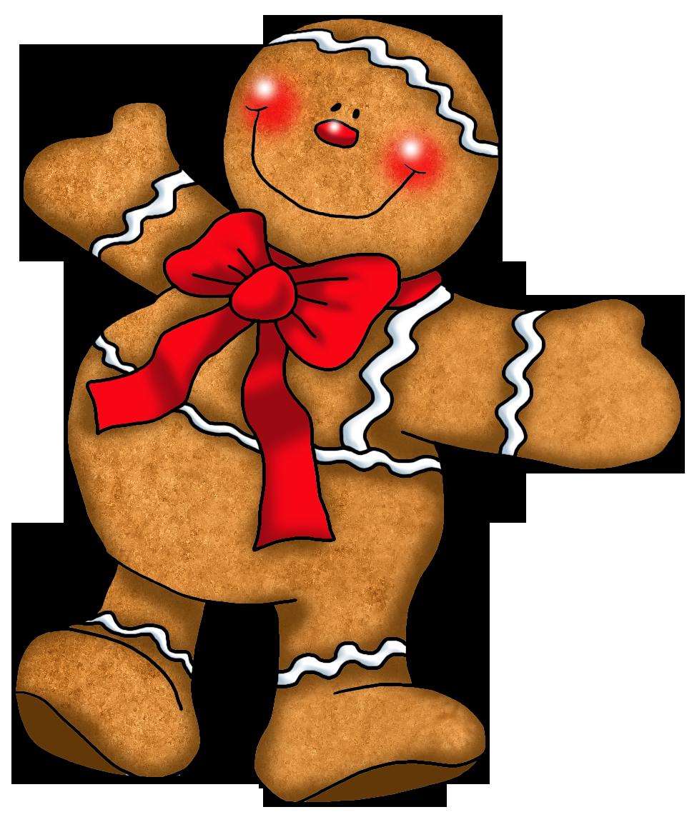 Gingerbread man border clipart 5