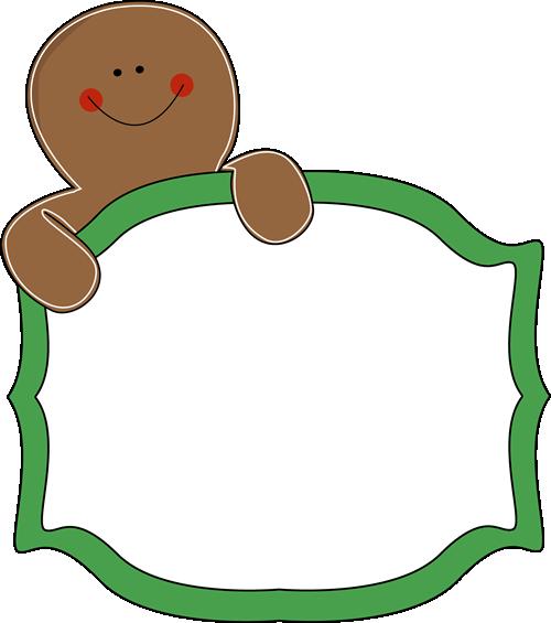 Gingerbread man border clipart 7