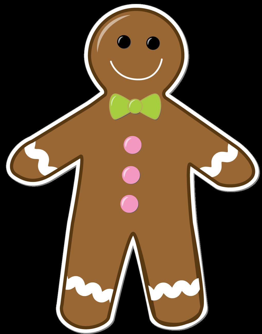 Gingerbread man border clipart