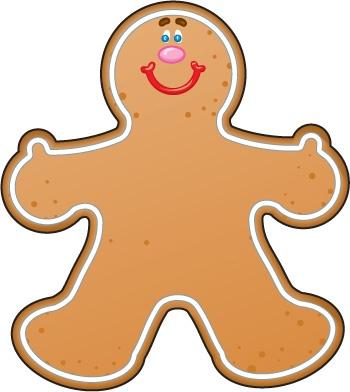 Gingerbread man clipart 4