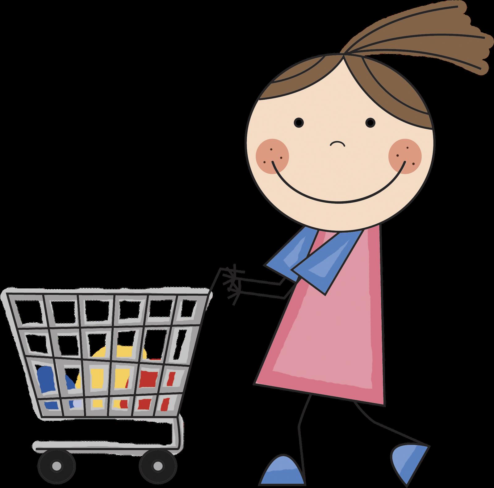 Girl shopping clipart transparent clipartfox
