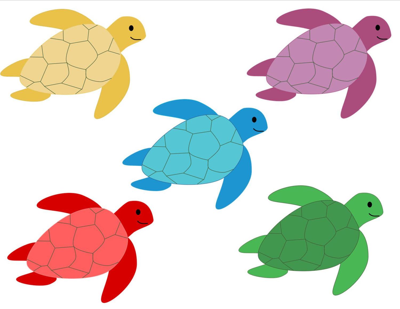 Glitter sea turtle clipart