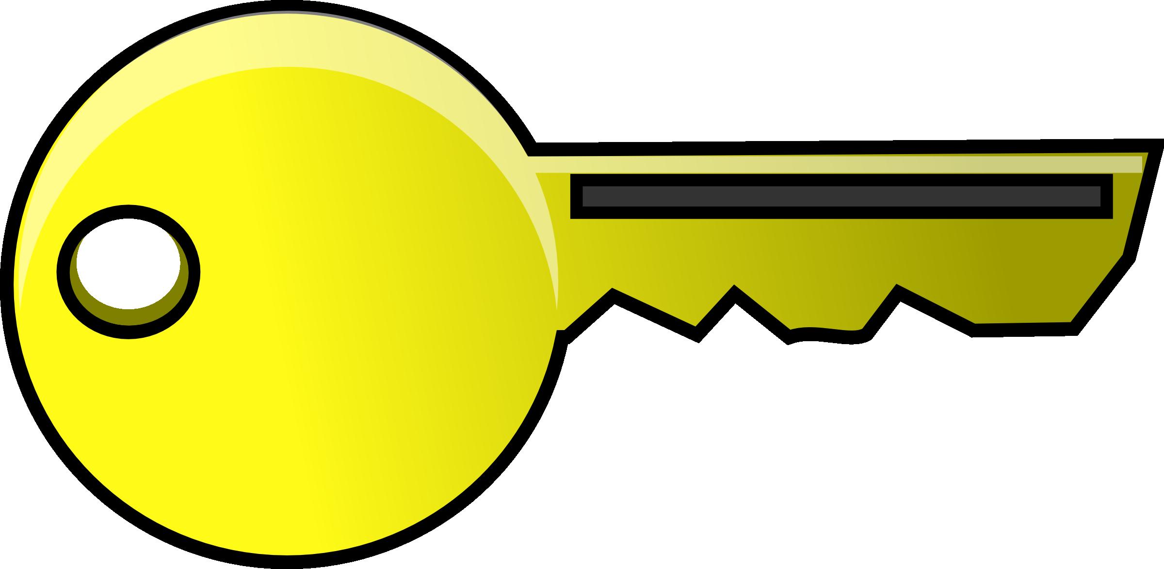 Gold key clipart 2
