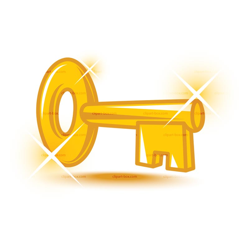 Gold key clipart 3