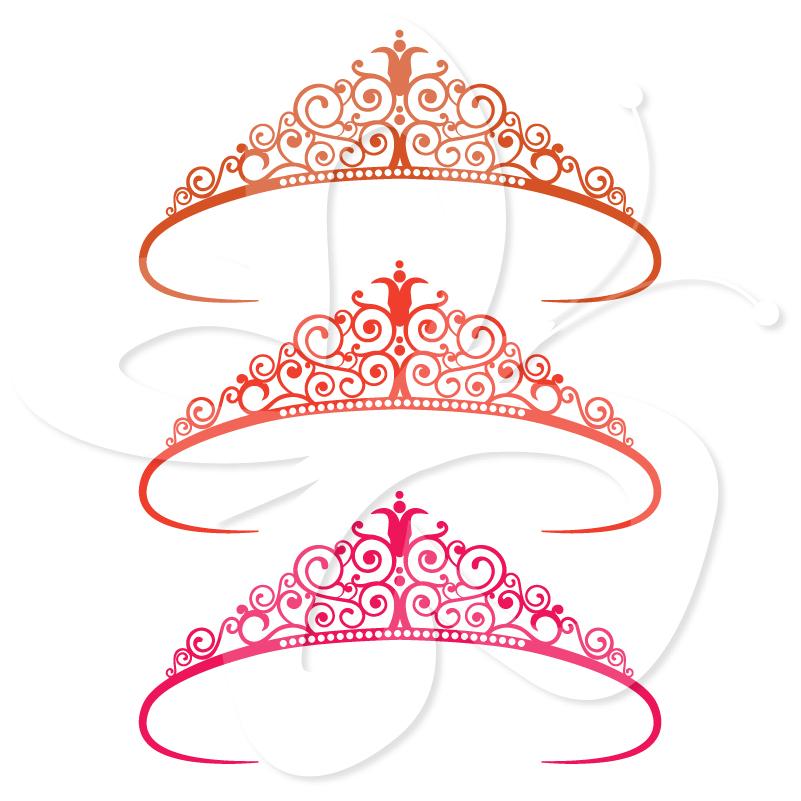 Gold princess tiara clip art