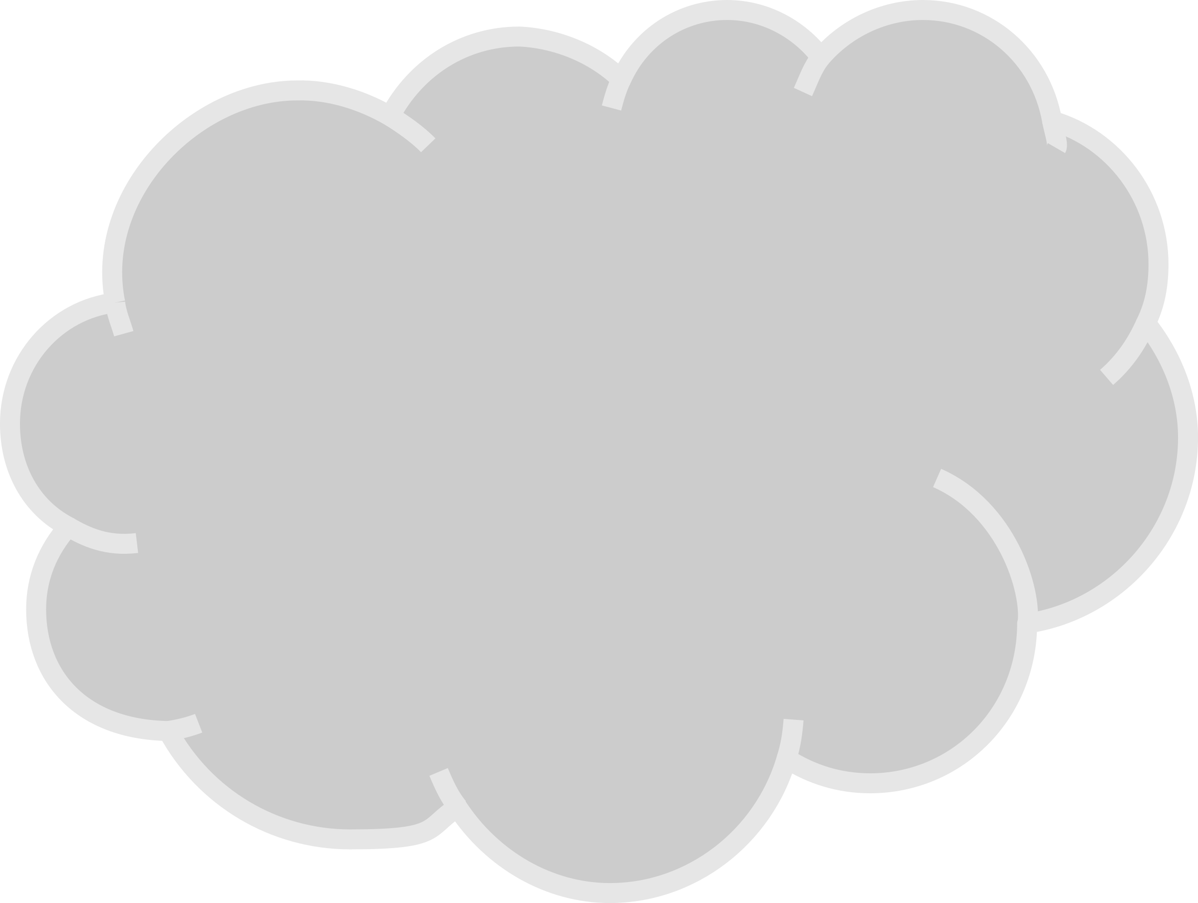 Gray and white cloud clipart 2