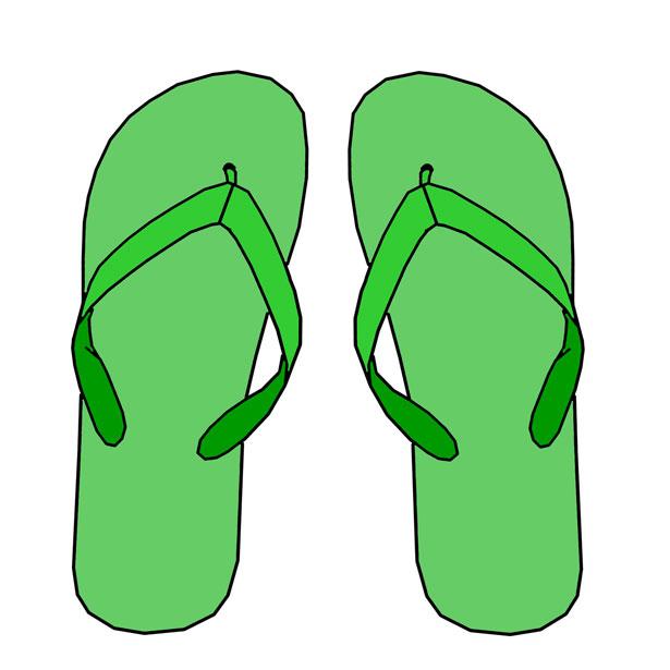 Green flip flops clipart famclipart