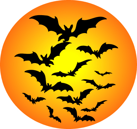 Halloween moon clipart