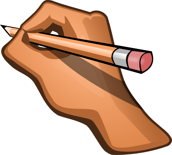 Handwriting clip art free clipart images 2