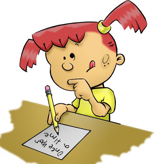 Handwriting kids writing clipart