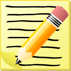Handwriting pencil clipart 3