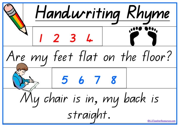 Handwriting practice clipart