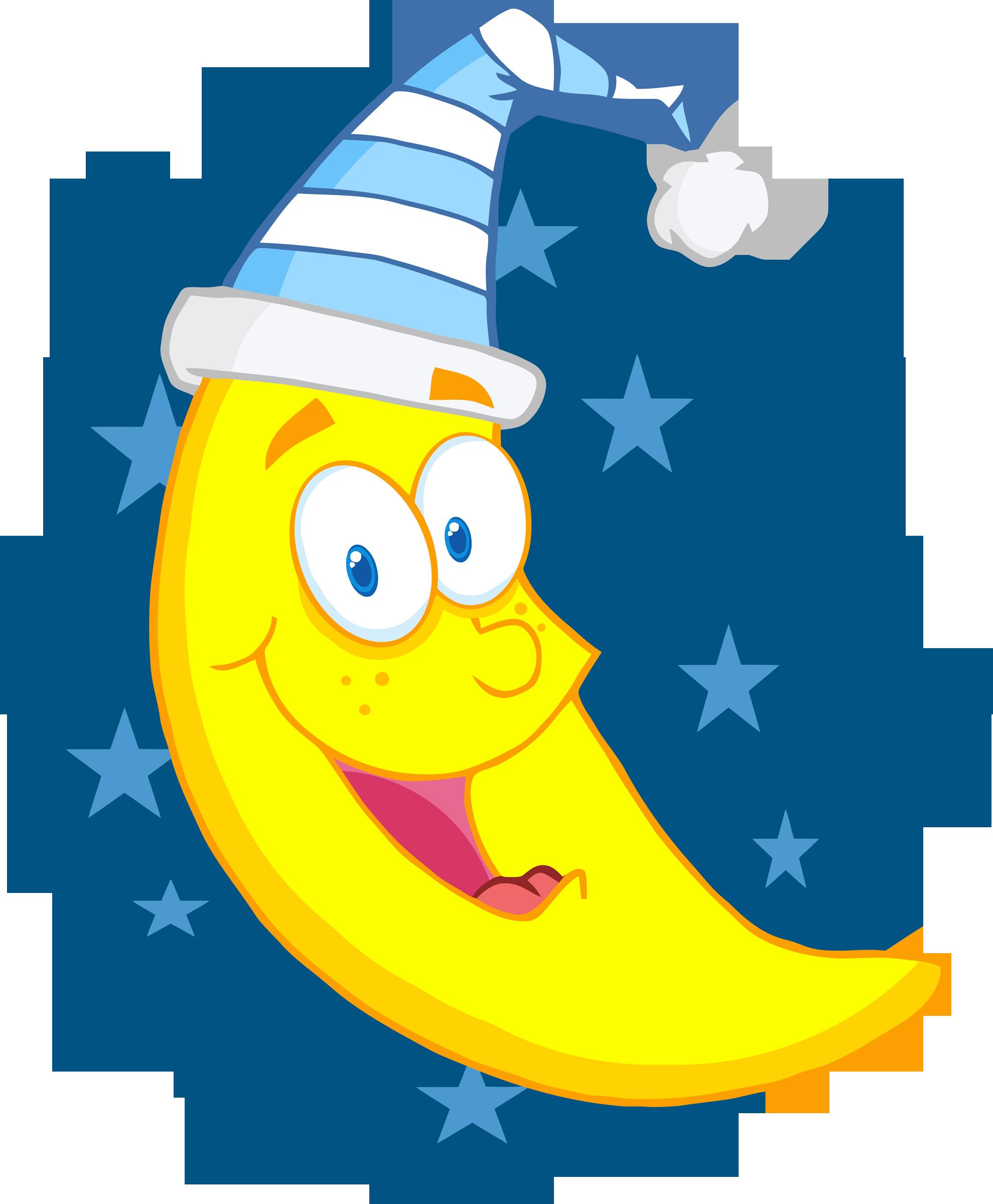 Happy moon clipart