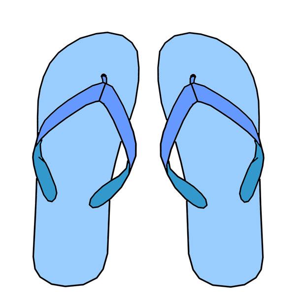 Hawaiian flip flop clipart