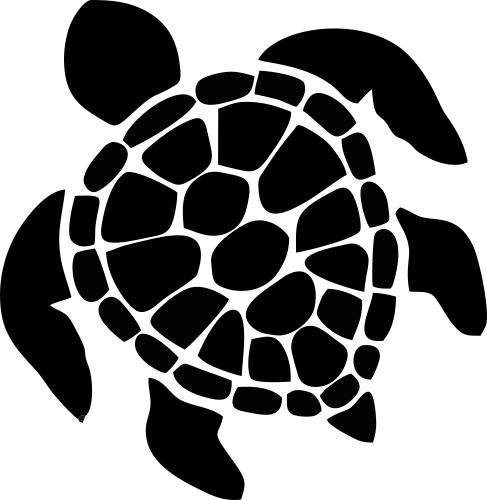 Hawaiian sea turtle clipart 2