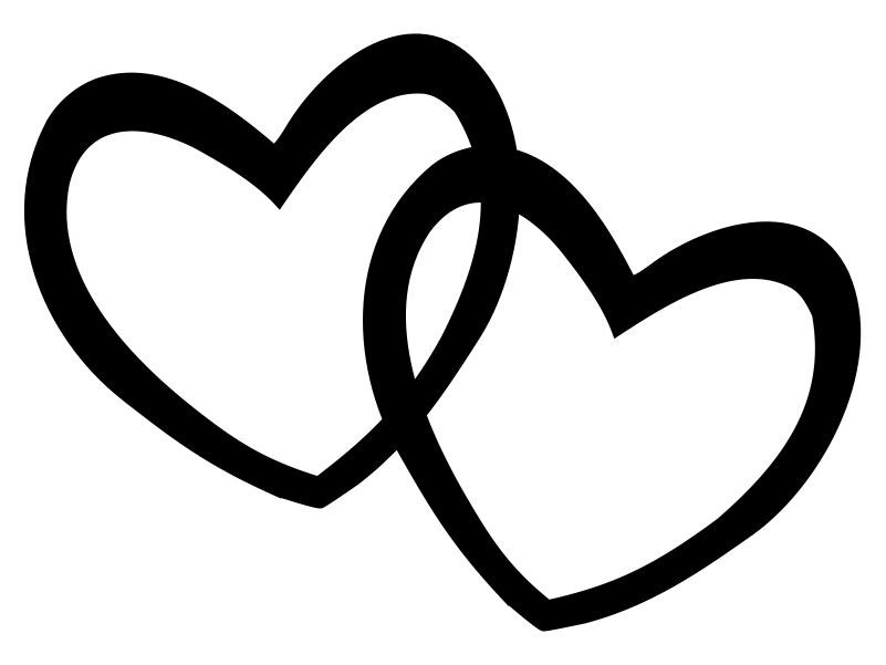 Heart  black and white black and white heart clipart free