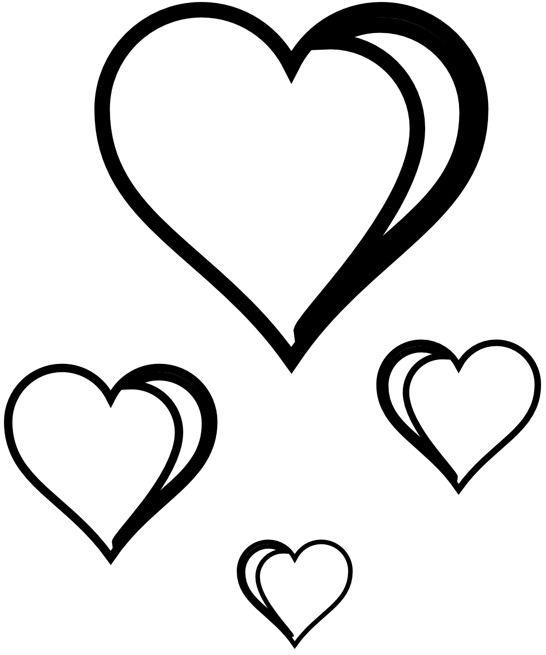 Heart  black and white clipart heart black and white free images 5