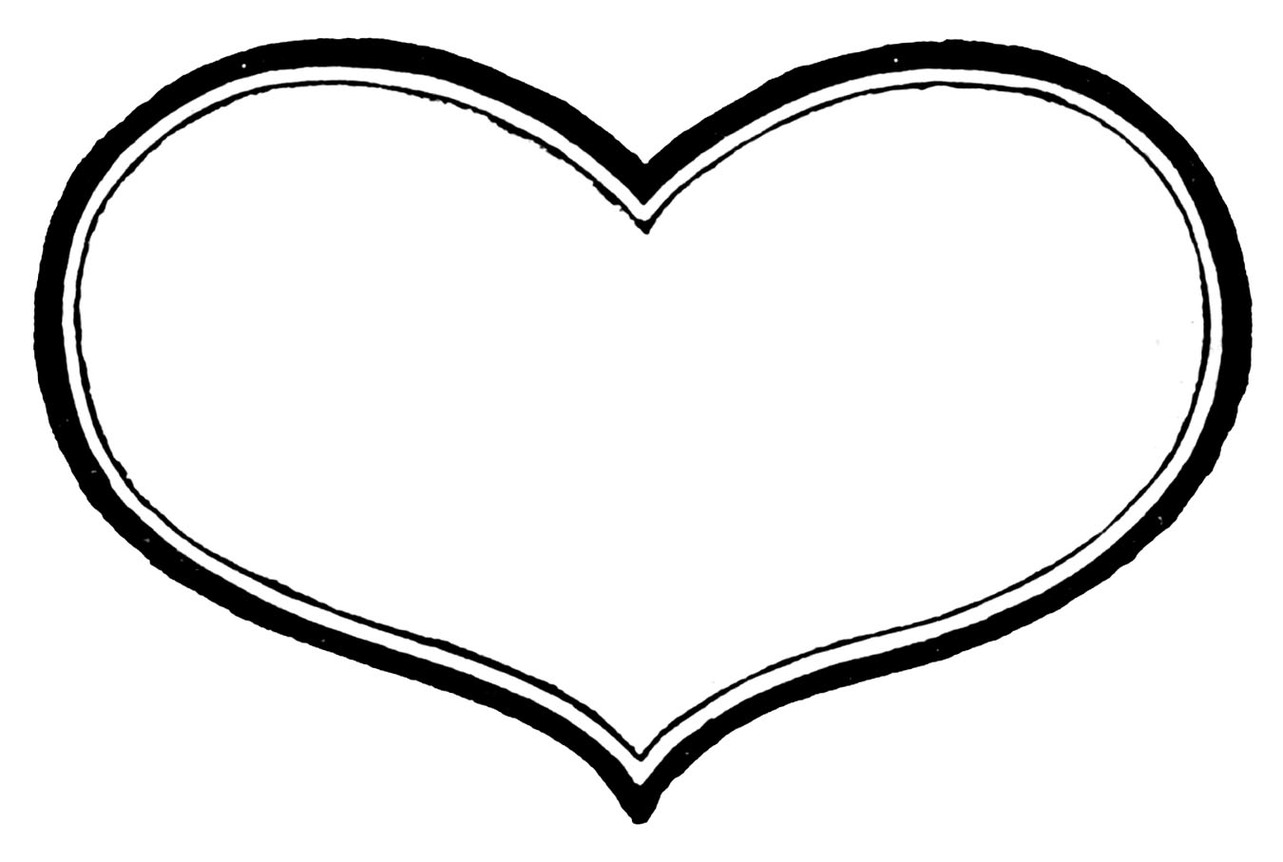 Heart  black and white heart black and white heart clipart clip art