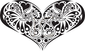 Heart  black and white heart black and white heart clipart happy