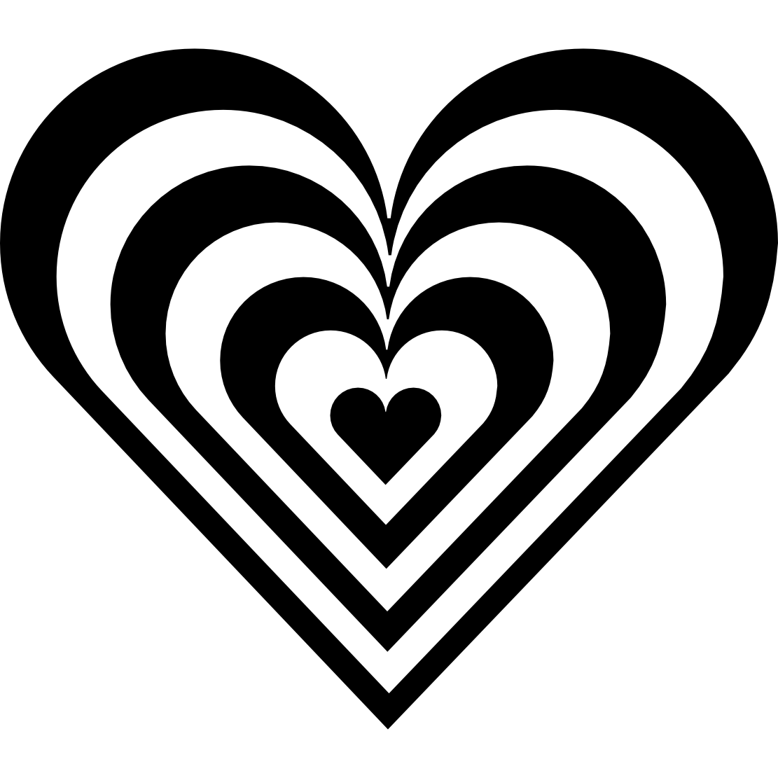 Heart  black and white heart clip art black and white free clipart images
